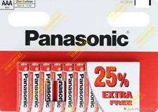 AAA Genuine PANASONIC X10 Zinc Carbon 1.5v Long Life LR03 Battery EXP 2024