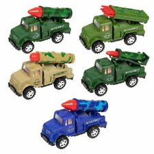 5-Pack Boys Push & Go Military Toy Vehicle with Missile Launcher, Assorted Color