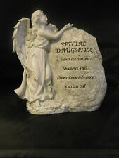 "BNIB  "" DAUGHTER "" LARGE STANDING ANGEL WITH ROCK GRAVESIDE ORNAMENT"