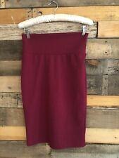 Solid Burgundy Maroon Cassie Pencil Skirt Lularoe Small S
