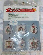 Vintage Paragon Needlecraft Holly Hobbie Snip n Stuff Ornaments Christmas Sealed