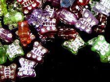 150 X 9mm Hoja De Plata Acrílico Mariposa granos mezclan Color Kids artesanía cuenta w137