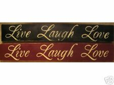 LIVE LAUGH LOVE Shabby Victorian Primitive Chic Sign