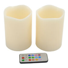 Remote Control Rainbow Candles - Colour Changing LED - Ivory