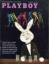 November 1959 Playboy Magazine Complete Donna Lynn Fine