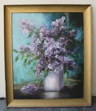 Jean Claude Schenck French Fine Violet Flower Painting MAGNIFICENT