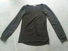 Haut femme, blouse tunique CAMAÏEU taille 1 noir et sequin