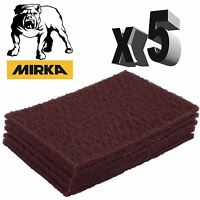 Mirka Mirlon Scotch Brite - Red Very Fine Hand Pads - Pack of 5