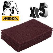 Mirka Mirlon Scotch Brite - Red Very Fine Hand Pads - Pack of 5