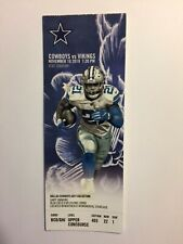 DALLAS COWBOYS VS MINNESOTA VIKINGS NOVEMBER 10, 2019 TICKET STUB