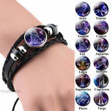 12 Zodiac Signs Constellations Black Gift Birthday Leo Libra Aries Men Jewelry