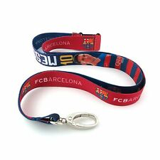 LIONEL MESSI #10 FC BARCELONA OFFICIALLY LICENSED LANYARD KEY CHAIN