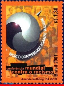 2809 BRAZIL 2001 WORLD CONFERENCE, AGAINST RACISM, JOINT ISSUE, MI# 3173, MNH