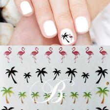 Nail Art Sticker  Nailart Palmen Flamingo Nagelsticker Tattoo Aufkleber Bunt1056