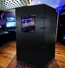 The Ultimate Vocal Recording Soundproof Booth Voice Over Booth Brushed Aluminum