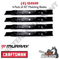 """(4) Genuine Craftsman 134149 Blades for 42"""" Mulch Decks"""
