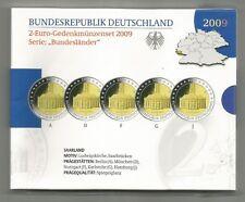 2-Euro-Gedenkmünzen Set 2009 , Saarbrücken - Spiegelglanz / PP - A D F G J - NEU