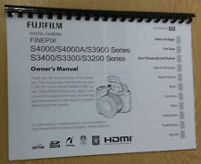 FUJIFILM S4000 3900 3400 3300 3200 PRINTED INSTRUCTION MANUAL USER GUIDE A5