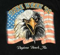 Motorcycle Bike Week 1992 Daytona Beach Florida Bald Eagle Vintage t-shirt Large