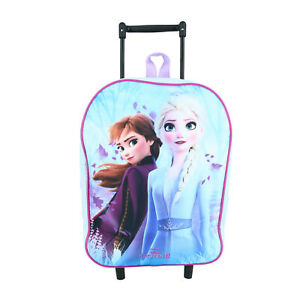 New Textiel Trade Disney Girl's Frozen 2 Elsa and Anna Rolling Luggage