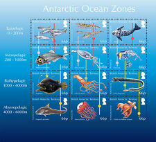 British Antarctic 2016 Ocean Zones 12v sheet MNH