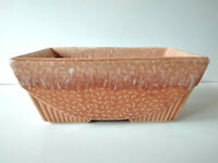 Vintage Art Deco Hull McCoy Frothy Peach Pink USA Heavy Pottery Planter