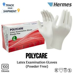 White Latex Disposable Gloves Power Free Heavy Duty Tattoo Valeting Barber PPE L