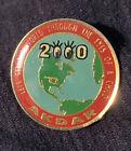 AKBAR SHRINERS 2000 World Globe OKLAHOMA 'Through The Eyes Of A Child' Pin Back