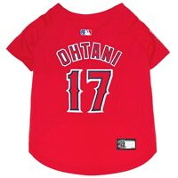 SHOHEI OHTANI #17 Los Angeles Angels MLBPA Officially Licensed Dog Jersey, Red