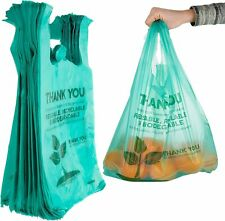 Stock Your Home Eco Grocery Bags (100 Count) Biodegradable Plastic Grocery Bags