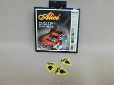 Alice AE531 Premium Electric Guitar Strings Nickel Super Lite (9 - 42) + 3 Picks
