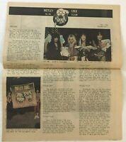 1985 Motley Crue SIN Fan Club Newsletter Magazine Metal Rock Vintage Fall Ed