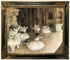 Degas Ballet Rehearsal on Stage 1874 Framed Canvas Print Repro 20x24