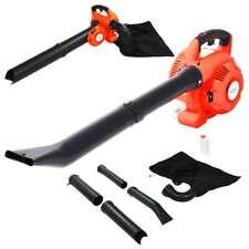 vidaXL 3 in 1 Petrol Leaf Blower 26 cc Orange Garden Leaf Shredder Vacuum