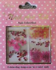 """Nail Art Kit 04"" 3D Set  dekoration  Blüten - Herze - Pailetten- Schleifen TOP"