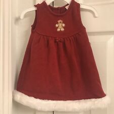 Gymboree Gingerbread Girl Dress 6 - 12 months Red Christmas Santa Holiday   I4