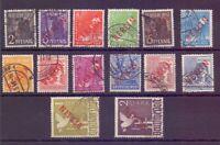 Berlin 1949 - Rotaufdruck - MiNr. 21/34 rund gestempelt - Michel 900,00 € (000)