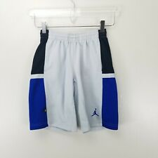 Nike Boys Basketball Shorts 8-10 Small White Blue Black Sports Activewear