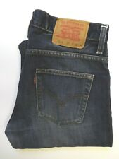 LEVI'S 516 JEANS MEN'S FLARED BOOT CUT W32 L30 DARK BLUE STRAUSS LEVR808
