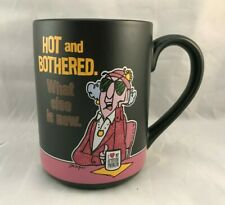 Hallmark Maxine Black Pink Coffee Cup Mug - Hot and Bothered. What else is new.