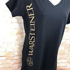 Ladies Warsteiner Beer Black V Neck T Shirt Next Level Apparel XL