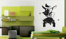 Wall Vinyl Sticker Decals Art Decor Awesome Cowboy Man Bullet Gun Hut  #170