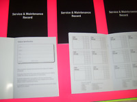 Blank Service History Book + Maintenance Record Replacement for Any Car or Van