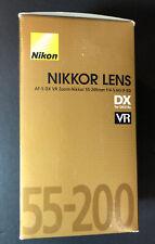 Nikon NIKKOR Lens AF-S DX VR 55-200mm f/4-5.6G IF-ED NEW