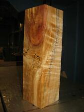 FIGURED SPALTED WESTERN BIG LEAF MAPLE WOOD TURNING LUMBER 4 x 4 x 14 VASE BLANK