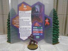 Heroscape Custom Joker w/ Tommy Gun Dbl Sided Card & Fig w/ Sleeve DC Batman