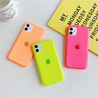Glossy Fluorescent Mirror Phone Cases For iPhone 11 Pro XS MAX XR X 7 8 Plus