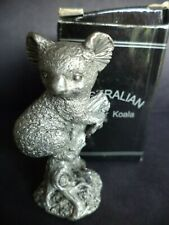 "2 1/8"" Vintage Detailed Australian Pewter Koala Bear Miniature Figurine"