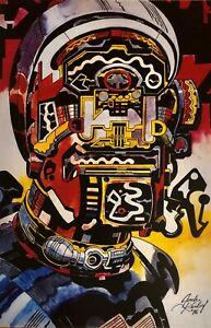 "JACK KIRBY SPACESHIP ROCKET  PRINT 11 x 17""  Fanatstic Four"