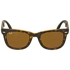 Rayban Folding Wayfarer Light Havana Tortoise  Resin Sunglasses RB4105-50-710